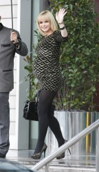 Amanda Holden Leaving a Hotel in Manchester 21st January x5