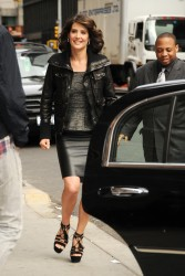 Cobie Smulders - Late Show with David Letterman, NYC - April 09 2012